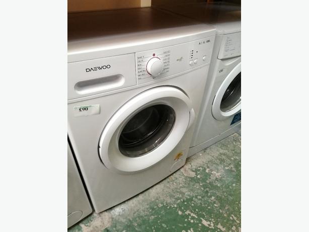 Daewoo 6 kg washing machine with warranty at Recyk Appliances
