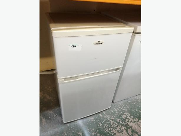 Viscount mini fridge freezer with warranty at Recyk Appliances