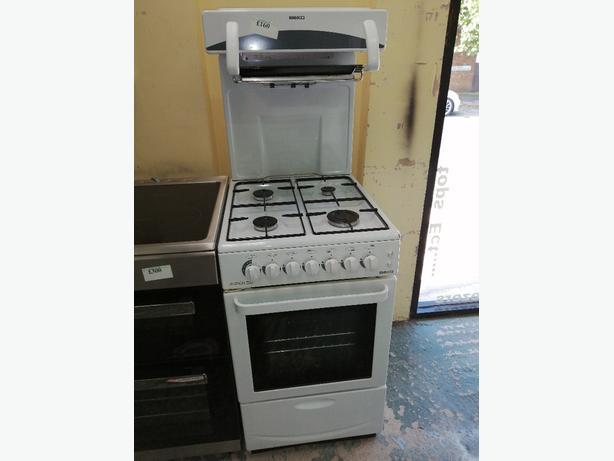 Beko 50 cm gas cooker with warranty at Recyk Appliances