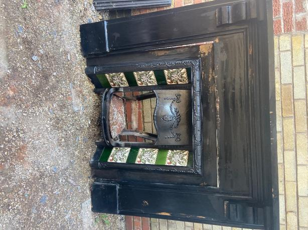 vintage gas fire and surround