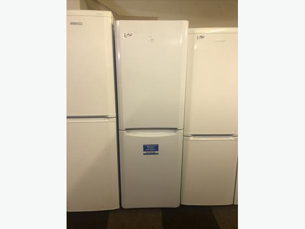 PLANET 🌍 APPLIANCE- WHITE INDESIT FRIDGE FREEZER WITH GUARANTEE 🇬🇧