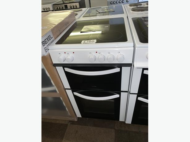 PLANET APPLIANCE - WHITE LOGIK 50CM ELECTRIC COOKER