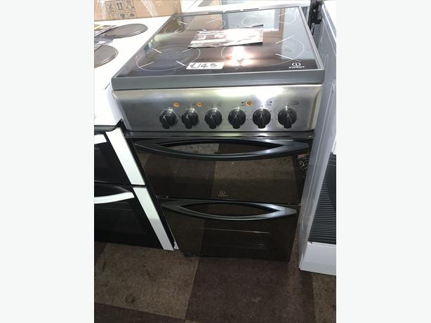 PLANET APPLIANCE - 50CM INDESIT ELECTRIC COOKER IN SILVER