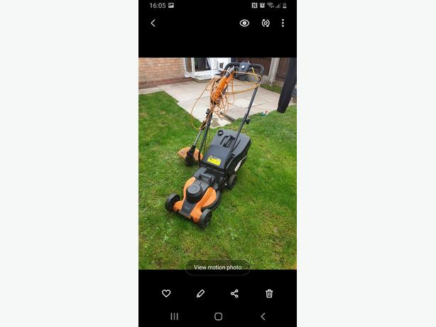work lawnmower set