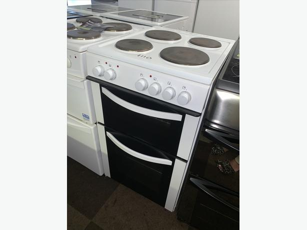 PLANET APPLIANCE - 50CM WHITE BEKO ELECTRIC COOKER WITH WARRANTY