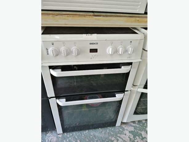 Beko 60 cm electric cooker with warranty at Recyk Appliances