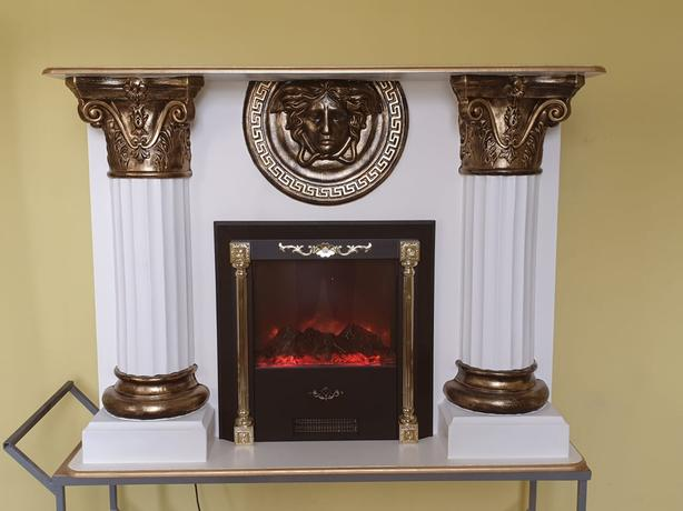 Unique fireplaces, statues and columns at Capricorn Interiors Oldbury