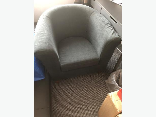 Grey single chair