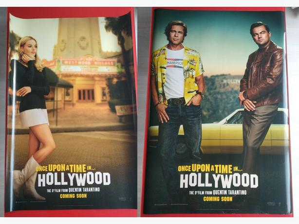 2x (extra large) ONCE UPON A TIME IN HOLLYWOOD Original Movie Cinema Posters