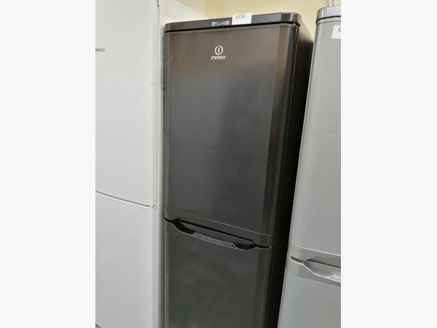 Indesit fridge freezer black with warranty