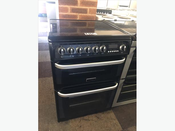 PLANET 🌎 APPLIANCE- 60CM WIDE BLACK HOTPOINT ULTIMA ELECTRIC COOKER
