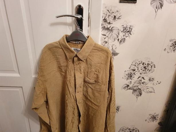 vintage cord burberry shirt