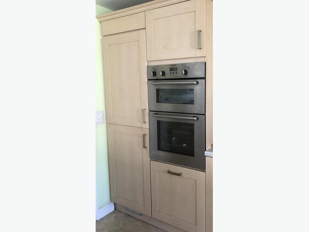 Fridge freezer 50/50 housing unit - beech (doors for sale also separately)