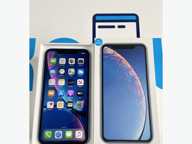 iPhone XR 64Gb unlocked to all networks Blue Boxed + Apple Warranty