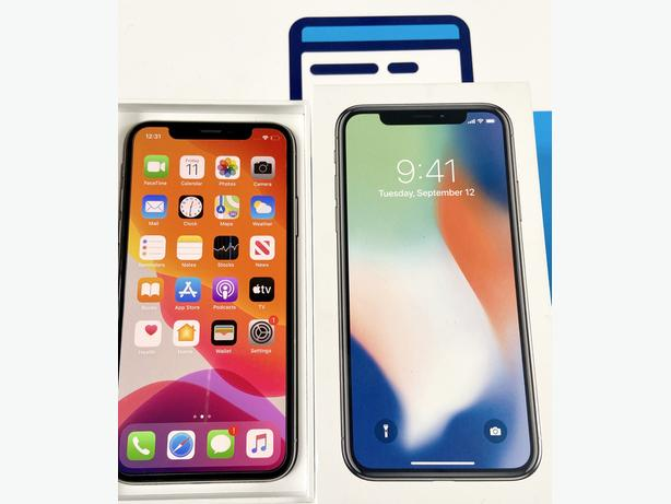 iPhone X 64Gb unlocked to all networks Silver Boxed