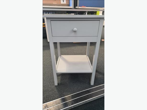 Grey Side Table/Shelf Cabinet/Storage Unit **Used once for display**
