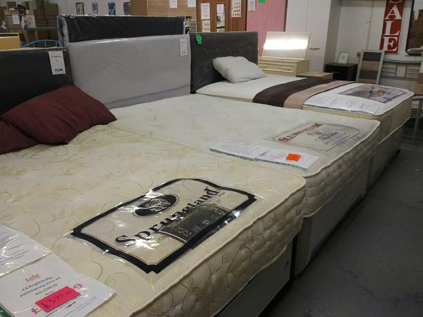 Large selection of beds on display at Capricorn interiors oldbury