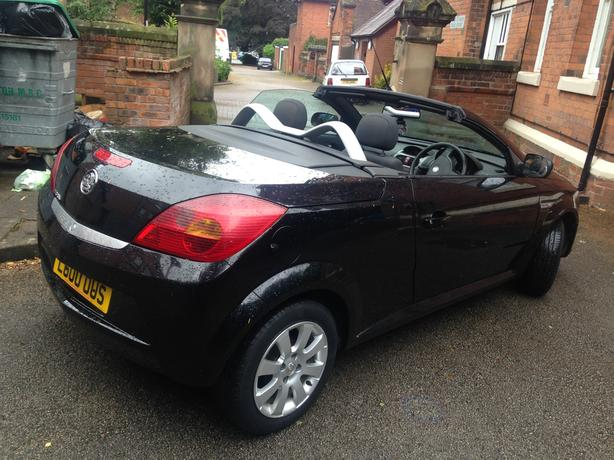 Black 2 seater Convertible with or without cherished number plate