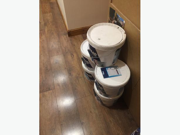 paint x5 tubs (10 litre )