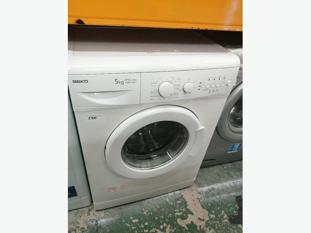 Beko 5 kg washing machine A +A with warranty at Recyk Appliances