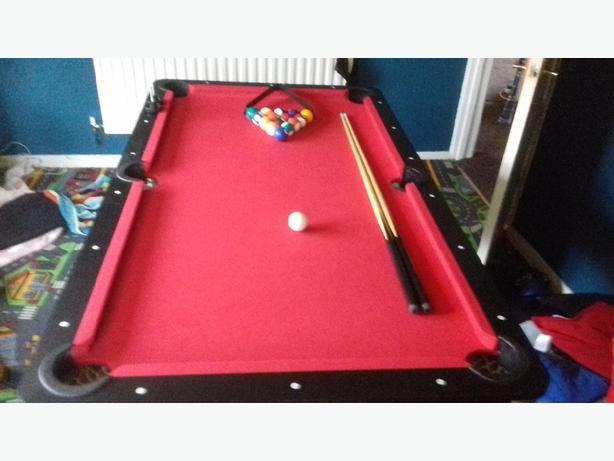 kids 5 foot fold up pool table