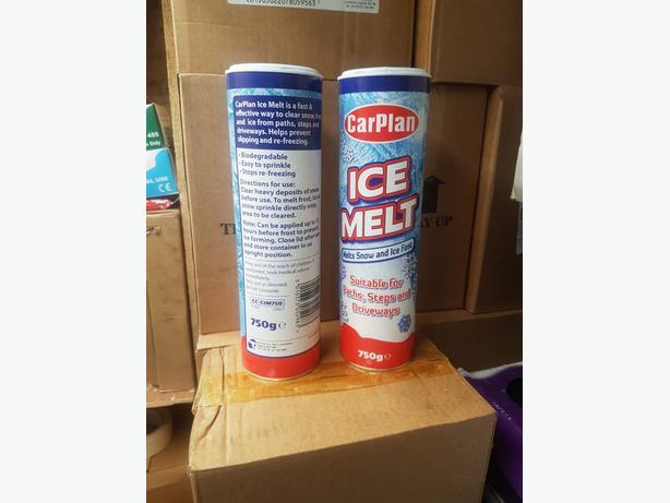 JOB LOT 500 TUBS OF 750G ICE MELT