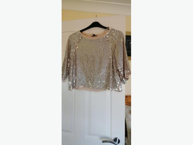 New Look Brand New Silver Sequined Top