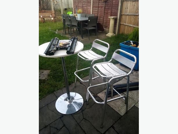Bar stools and bar table