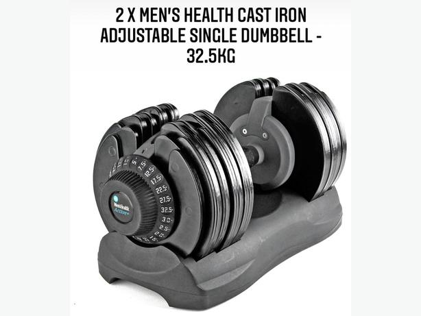 2 X Mens Health Cast Iron Dumbells - Open to offers