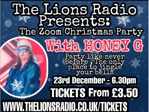 zoom xmas party with Honey G