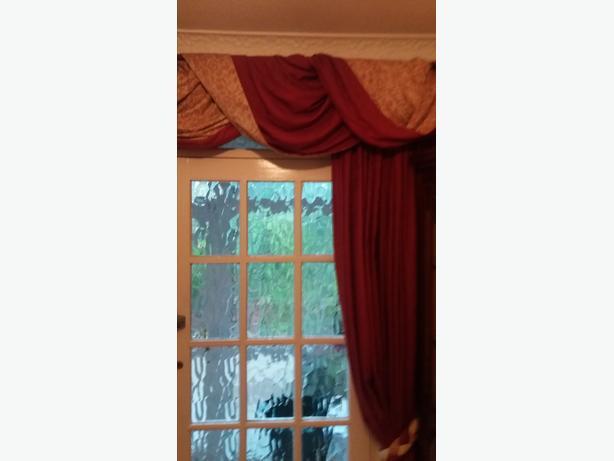 Door Curtain And Pole Wrap
