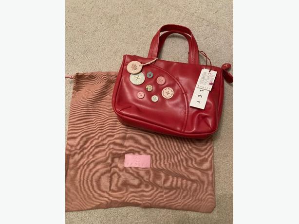 Red Leather Radley Handbag