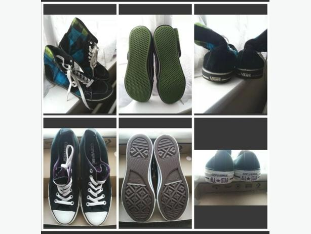 VANS High Tops and Converse Low Tops size 6