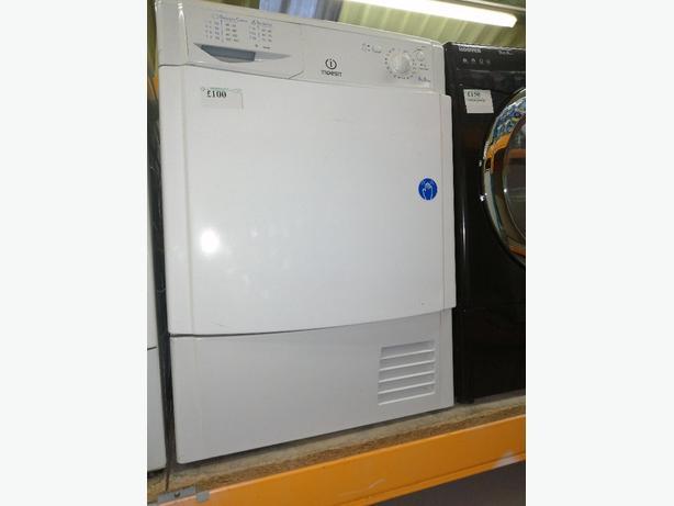 Indesit 8 kg condenser dryer B class with warranty at Recyk Appliances