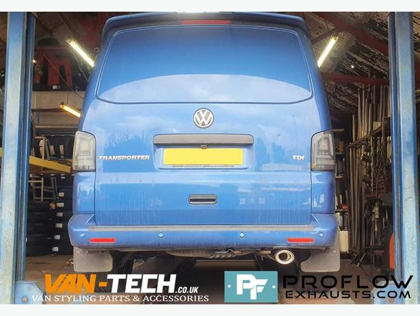 VW Transporter T5 Custom Exhaust Single Exit Tailpipe