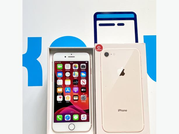 iPhone 8 64Gb locked to Vodafone VOXI Lebara Boxed + Charger