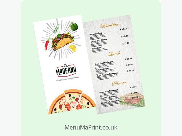 DL Flyers | DL Menus | Indian takeaway menu | MenuMa Print