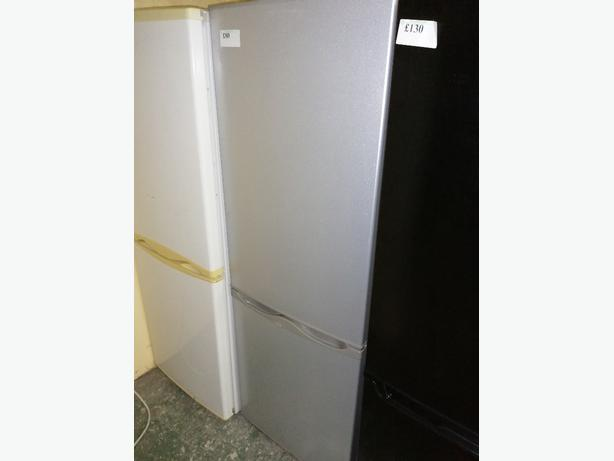 Curry's fridge freezer silver with warranty at Recyk Appliances