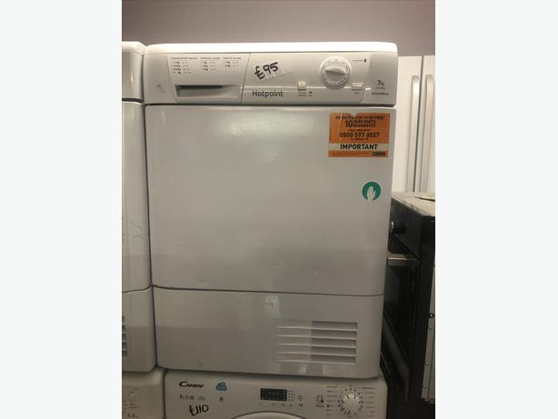 PLANET 🌏 APPLIANCE- 7KG HOTPOINT CONDENSER TUMBLE DRYER WITH GUARANTEE