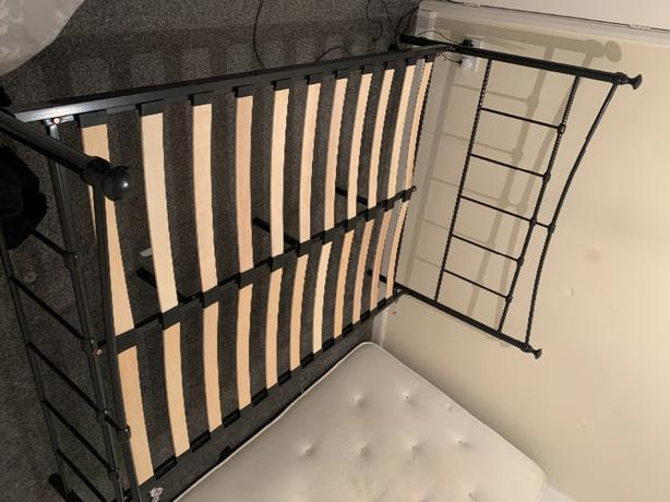 double black bed frame