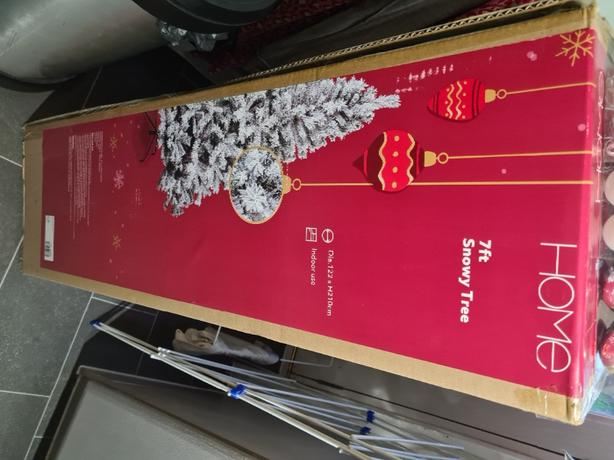 argos 7ft snowy christmas tree set