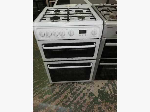 Recyk Appliances - Hotpoint 60 cm gas cooker white with warranty