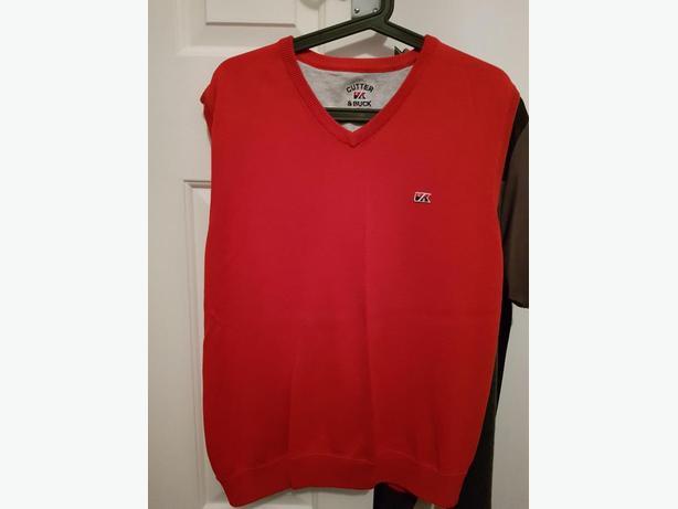 Men's red slip top