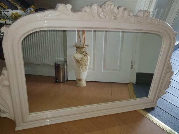 Matching resin mirror to complement the fire surround