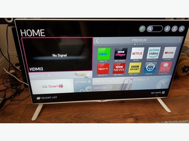 "WHITE 4K ULTRA HD 3D SMART LG 40"" LED TV+built in apps+wifi+remote+DELIVERY"