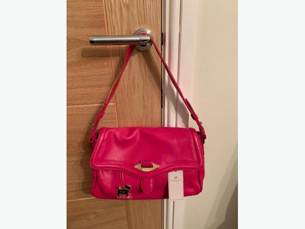Pink Radley Leather Handbag