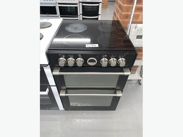 PLANET APPLIANCE - 60CM BLACK ELECTRIC COOKER CLEAN AND TIDY