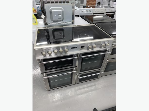 100CM LEISURE ELECTRIC COOKER SILVER AND CLEAR