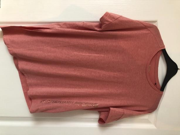 Superdry pink asymmetrical top