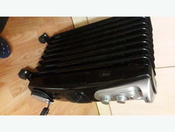 oil filled radiator with built in fan heater